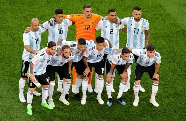 The Argentina team at the 2018 World Cup