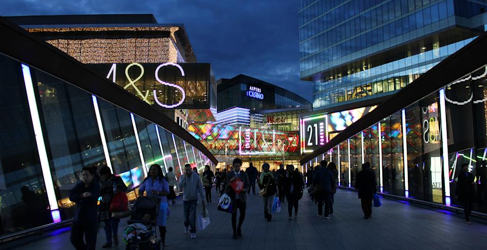 Shopping centre footfall in September declined by 35.6%, compared to pre-pandemic levels. Photo: Getty Images