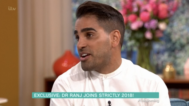Dr Ranj is taking part on this year's 'Strictly Come Dancing'