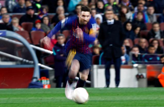 In his first year as Barcelona captain, Lionel Messi has carried his side and plowed his way into the club's first Champions League semifinal since 2015. (Getty Images)