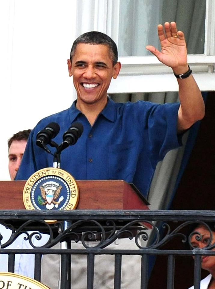 """President Barack Obama turns 50. Kevin Dietsch-Pool/<a href=""""http://www.gettyimages.com/"""" target=""""new"""">GettyImages.com</a> - July 4, 2011"""