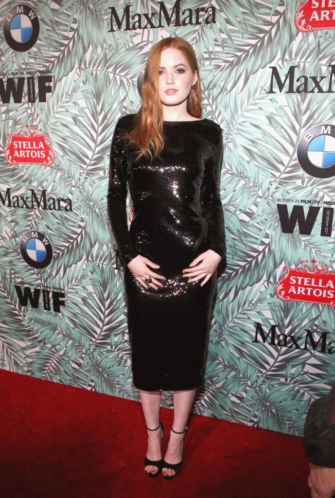 <p>Ellie Bamber in Tom Ford (Photo: Getty Images) </p>