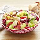 """<p>This is the only salad worthy of eating during the Super Bowl. It's made with meats and cheese and served with crusty bread.</p><p><strong><a href=""""https://www.thepioneerwoman.com/food-cooking/recipes/a32676515/antipasti-chopped-salad-recipe/"""" rel=""""nofollow noopener"""" target=""""_blank"""" data-ylk=""""slk:Get the recipe."""" class=""""link rapid-noclick-resp"""">Get the recipe.</a></strong></p><p><strong><a class=""""link rapid-noclick-resp"""" href=""""https://go.redirectingat.com?id=74968X1596630&url=https%3A%2F%2Fwww.walmart.com%2Fbrowse%2Fhome%2Fserveware%2Fthe-pioneer-woman%2F4044_623679_639999_2347672%2FYnJhbmQ6VGhlIFBpb25lZXIgV29tYW4ie&sref=https%3A%2F%2Fwww.thepioneerwoman.com%2Ffood-cooking%2Fmeals-menus%2Fg35049189%2Fsuper-bowl-food-recipes%2F"""" rel=""""nofollow noopener"""" target=""""_blank"""" data-ylk=""""slk:SHOP SERVEWARE"""">SHOP SERVEWARE</a><br></strong></p>"""