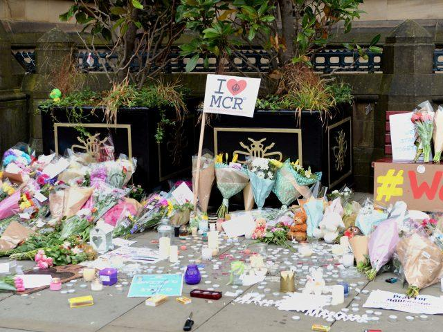 Floral tributes left following the Manchester Arena bombing