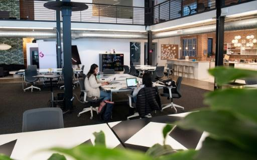 The work-from-home phenomenon has left many offices, including co-working spaces like this one in San Francisco, largely abandoned