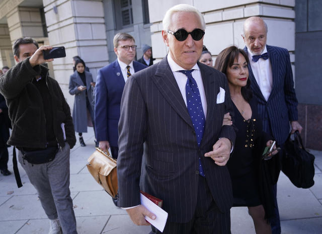 Former Trump adviser Roger Stone, with his wife, Nydia. (Win McNamee/Getty Images)