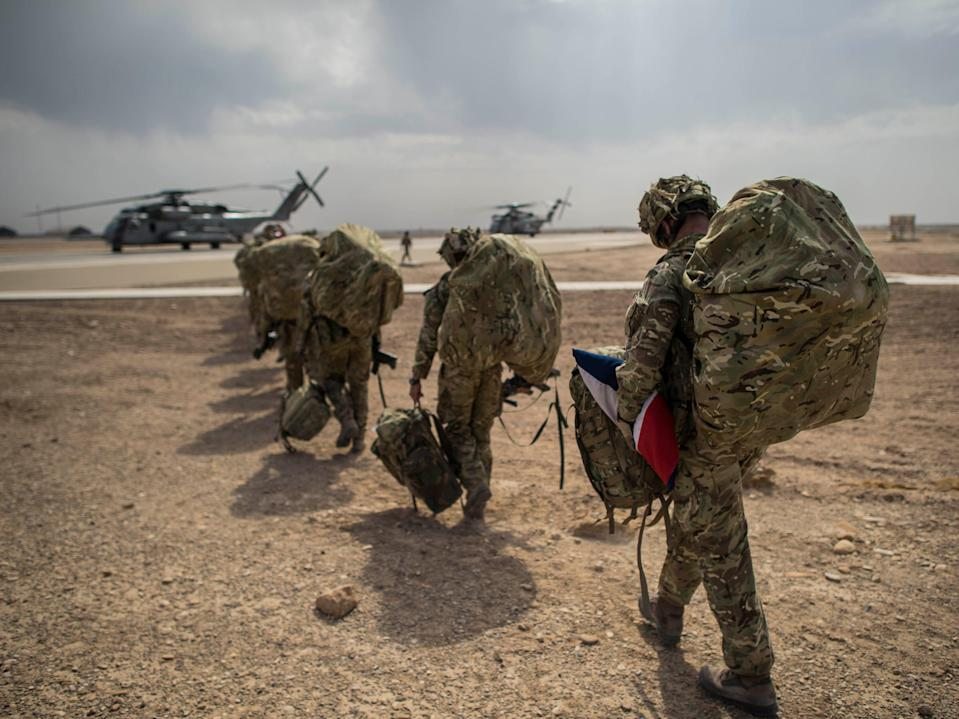 <p>Around 750 British troops remain in Afghanistan, but their departure was hurried when the US announced it was withdrawing by 11 September</p> (PA)