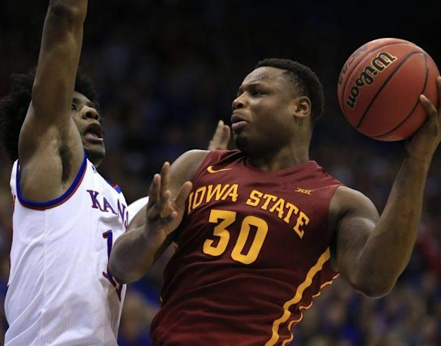 Iowa State stunned Kansas with a big second-half comeback. (AP)
