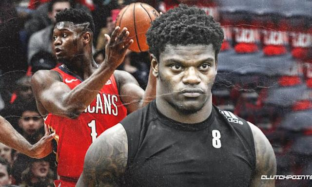 Lamar Jackson, Other NFL Stars React to Zion Williamson's NBA Debut