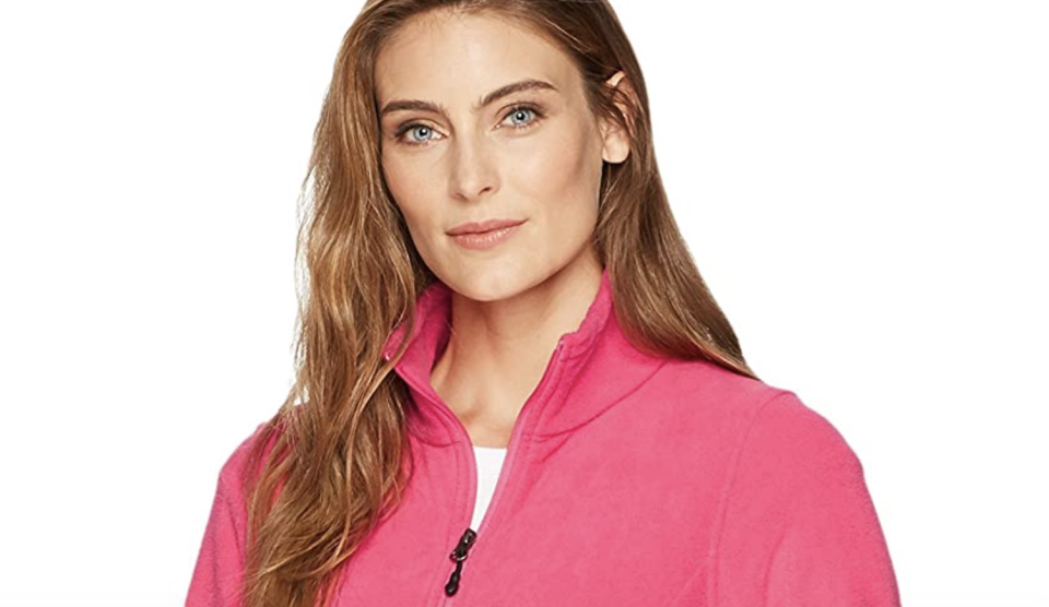 The Amazon Essentials Women's Full-Zip Polar Fleece Jacket comes in more than a dozen colours.