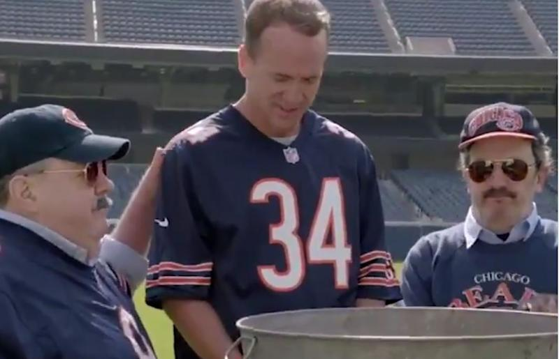 info for bceec d3b94 Peyton Manning baptized as a Bears fan, exclaims Packers suck