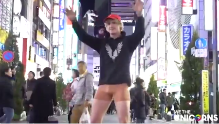 He pulled down his pants in the middle of the street. Photo: YouTube