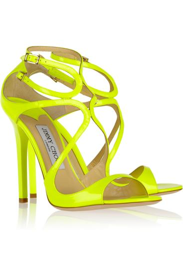 Neon yellow stilettos by Jimmy Choo at Net-a-porter.com