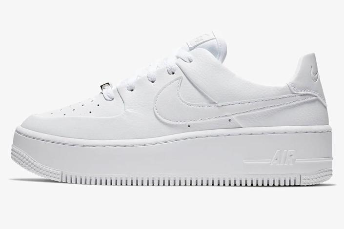 sneakers, white, leather, nike