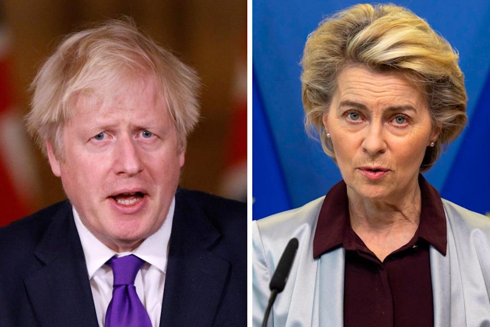 <p>Boris Johnson and Ursula von der Leyen have ordered their negotiators to meet again on Sunday</p> (PA)