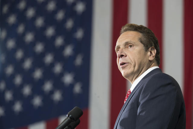 New York Gov. Andrew Cuomo at a June rally. (Photo: AP/Mary Altaffer)