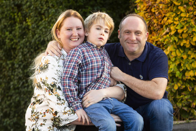Harley Bond stopped recognising his parents due to childhood dementia. [Photo: Caters]