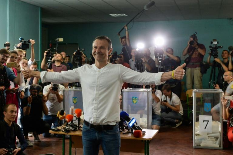 Rock star Vakarchuk's party, also packed with young professionals like Zelensky's, made it to parliament with six percent of the vote
