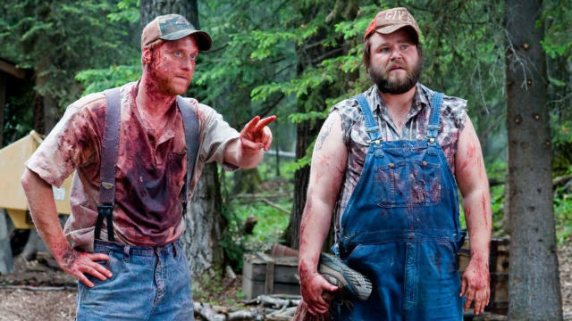 Tyler Labine and Alan Tudyk in 'Tucker and Dale vs. Evil'. (Credit: Magnet Releasing)