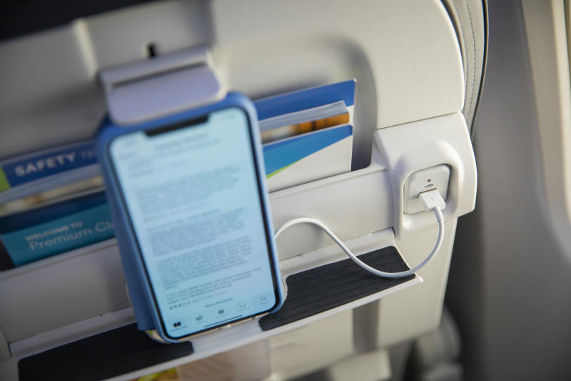 Alaska Airlines' ergonomically-friendly tablet holders and a seatback shelf at each seat make most tablets and smartphones easy to view and secure.