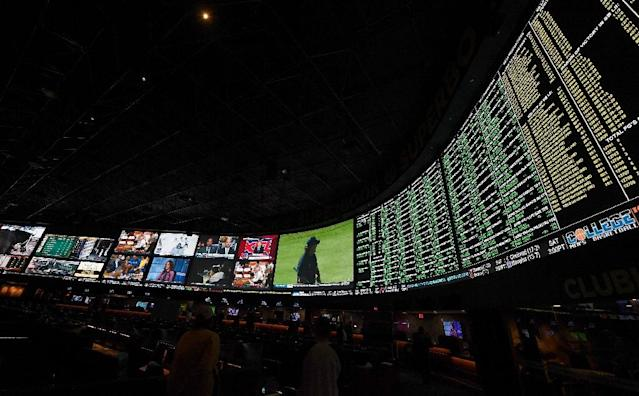 Now bets like the more than 400 proposition bets for Super Bowl LI between the Philadelphia Eagles and the New England Patriots displayed here in January 2018 at Westgate Las Vegas Resort & Casino will be accepted in other US states (AFP Photo/Ethan Miller)