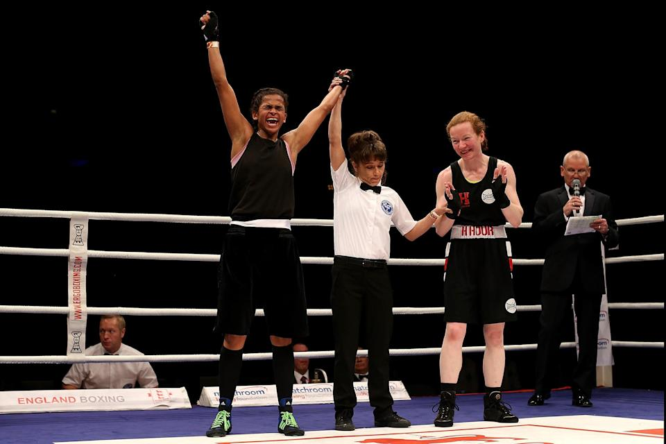 Ali wins the England Boxing National Elite Championships as an amateur fighter in 2016Getty Images