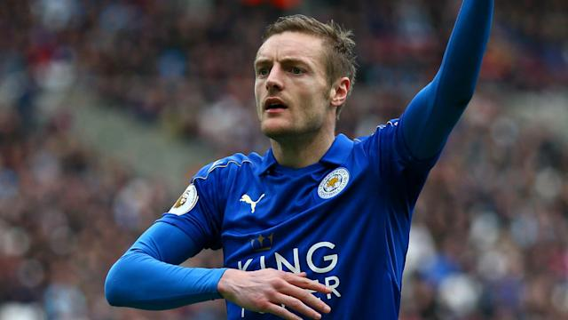 Jamie Vardy's six goals in eight games for Leicester City have won the admiration of Atletico Madrid coach Diego Simeone.