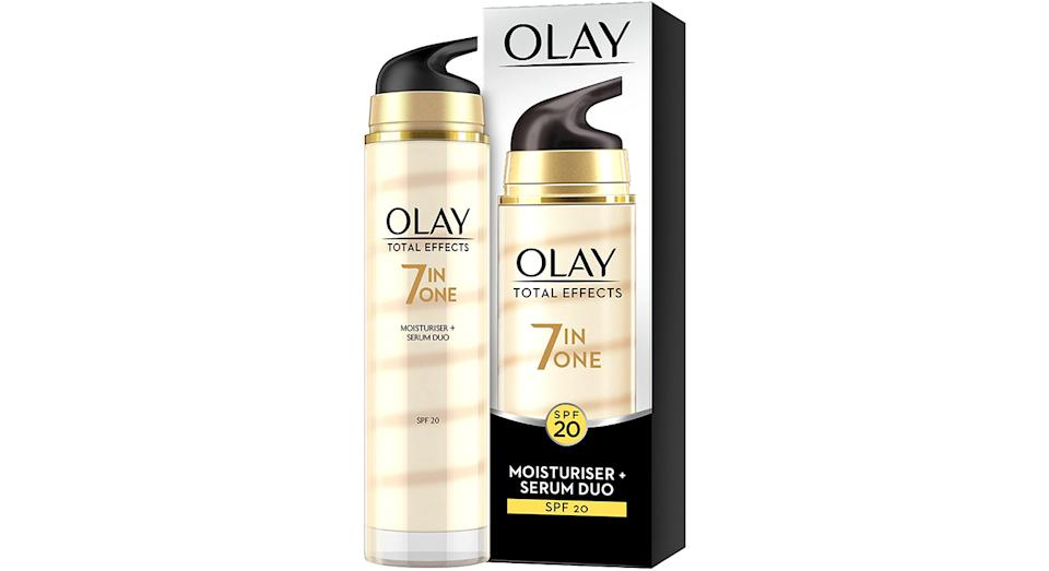 Olay Total Effects Anti-Ageing Moisturiser And Serum Duo SPF 20