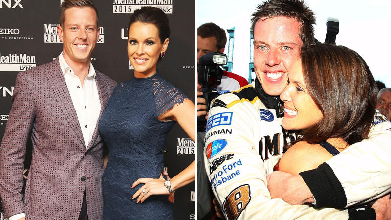 James Courtney, pictured here with wife Carys before their marriage breakdown.