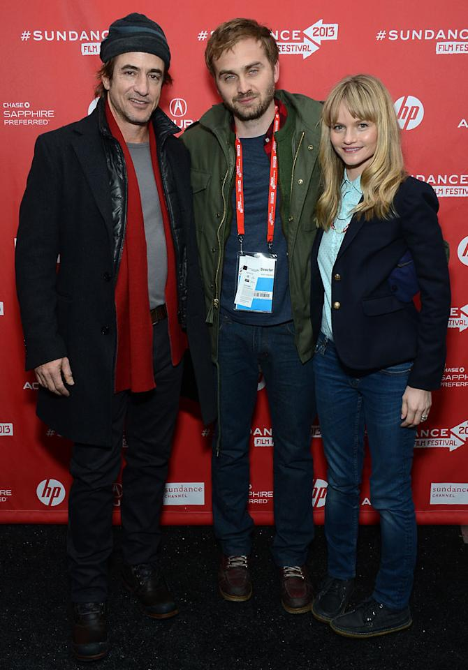 """PARK CITY, UT - JANUARY 21: (L-R) Actor Dermot Mulroney, director Calvin Reeder and actress Lindsay Pulsipher attend """"The Rambler"""" midnight screening at Library Center Theater during the 2013 Sundance Film Festival on January 21, 2013 in Park City, Utah.  (Photo by Amanda Edwards/Getty Images)"""
