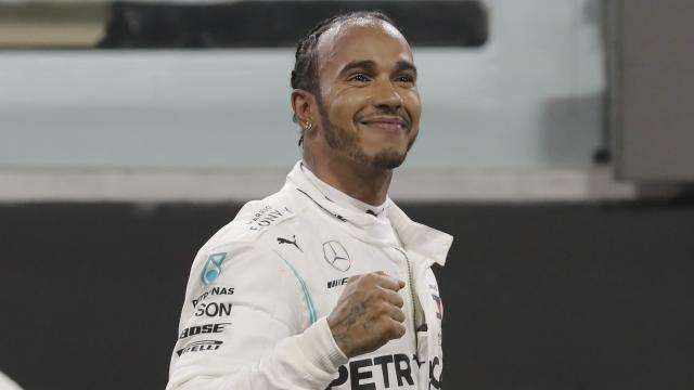 Lewis Hamilton ends F1 world-championship winning campaign in style at Abu Dhabi