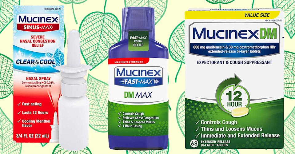 Mucinex products will have you breathing easily all spring — and all year long. (Photo: Amazon)