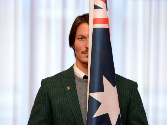 Alex Pullin carried the Australian flag at the 2014 Sochi Winter Olympics (EPA)