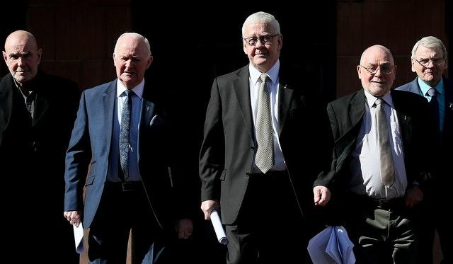 Five of the 'hooded men'