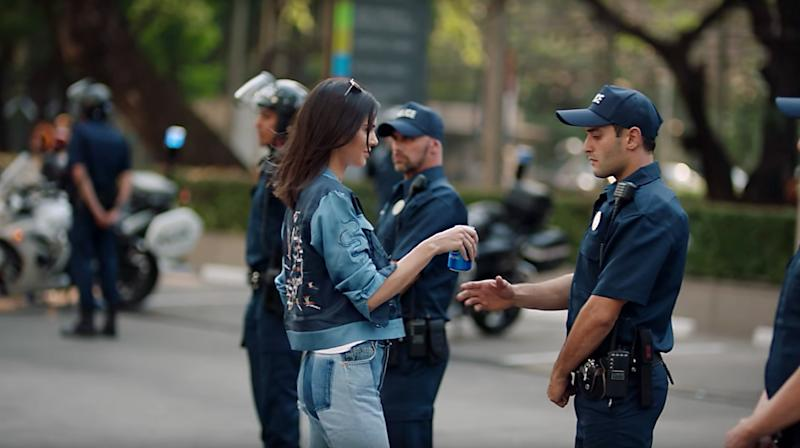 Kendall Jenner appears in the infamous Pepsi ad. Image: Pepsi global via YouTube