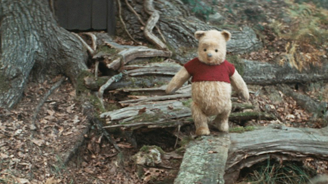 """In <em>Christopher Robin</em>, Winnie-the-Pooh is still the No. 1 ursine supporter of the """"no pants, no problem"""" movement. (Photo: Courtesy of Disney)."""