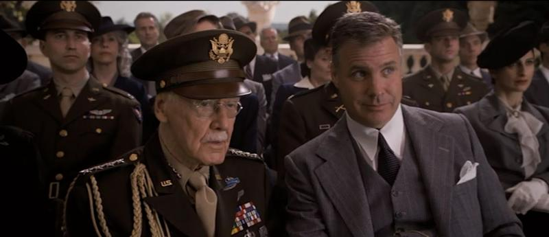 Stan Lee, front-left, in 'Captain America: The First Avenger'