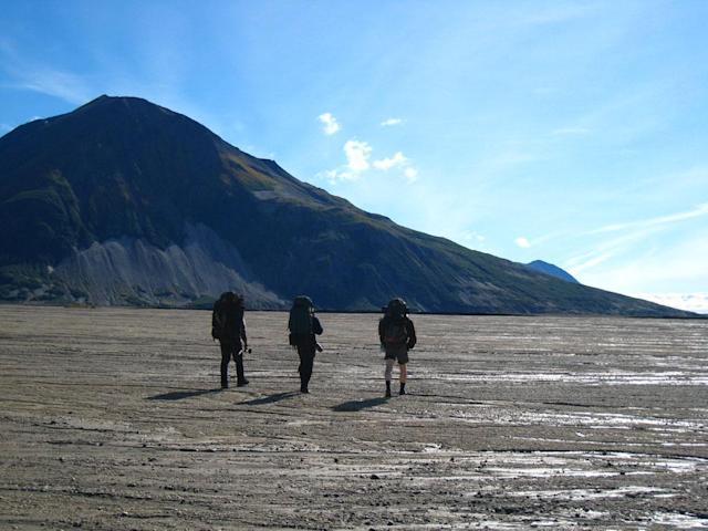 Katmai National Park and Preserve, Alaska, USA: Austin Manelick, Tyrell Seavey & Willi Prittie traveling through Katmai National Park.