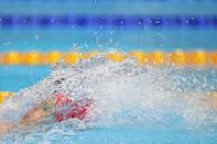 <p>Greenbank of Team Great Britain competes in the men's 200m backstroke semifinal.</p>