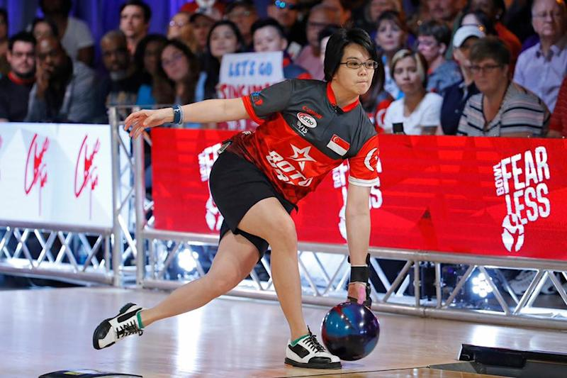 Singapore bowler Cherie Tan in action in the step-ladder finals at the QubicaAMF PWBA Players Championship. (PHOTO: PWBA)
