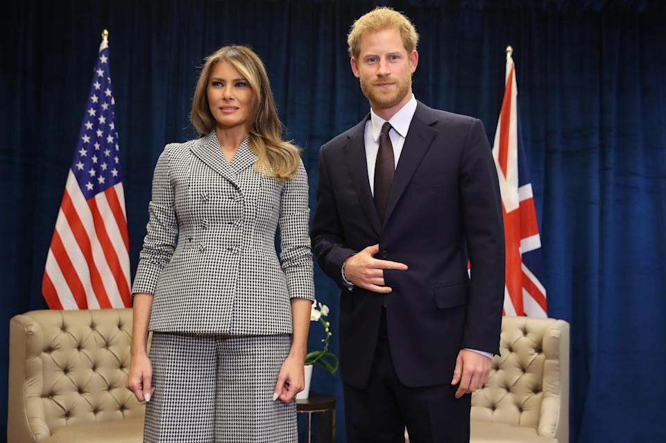 Melania and Prince Harry during the 2017 Invictus Games. (Photo: Chris Jackson/Getty Images for the Invictus Games Foundation)