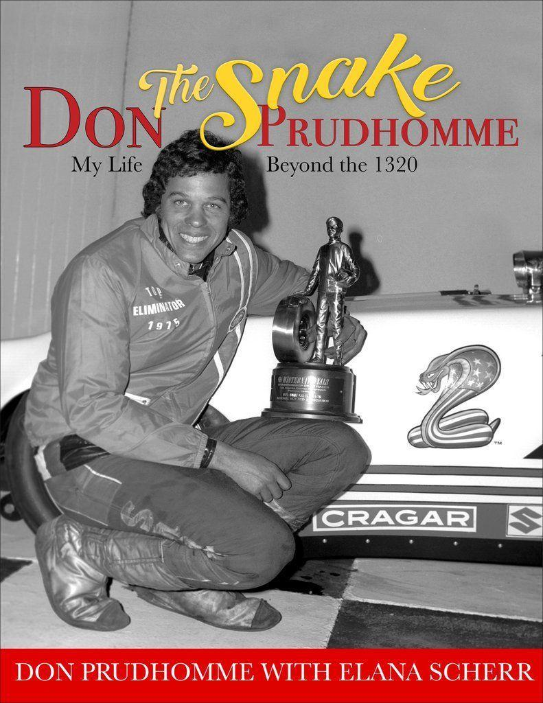 """<p>cartechbooks.com</p><p><strong>$42.95</strong></p><p><a href=""""https://www.cartechbooks.com/collections/histories/products/don-quot-the-snake-quot-prudhomme-my-life-beyond-the-1320"""" rel=""""nofollow noopener"""" target=""""_blank"""" data-ylk=""""slk:Shop Now"""" class=""""link rapid-noclick-resp"""">Shop Now</a></p><p><em>Car and Driver</em> senior editor <a href=""""https://www.caranddriver.com/author/223081/elana-scherr/"""" rel=""""nofollow noopener"""" target=""""_blank"""" data-ylk=""""slk:Elana Scherr"""" class=""""link rapid-noclick-resp"""">Elana Scherr </a>spent a year chatting with drag racing legend Don """"The Snake"""" Prudhomme, eliciting anecdotes and revelations about his remarkable life and career. This charming book collects and distills those stories into a breezy, fun-to-read tome, one that is, at heart, about the soul of racing.</p>"""
