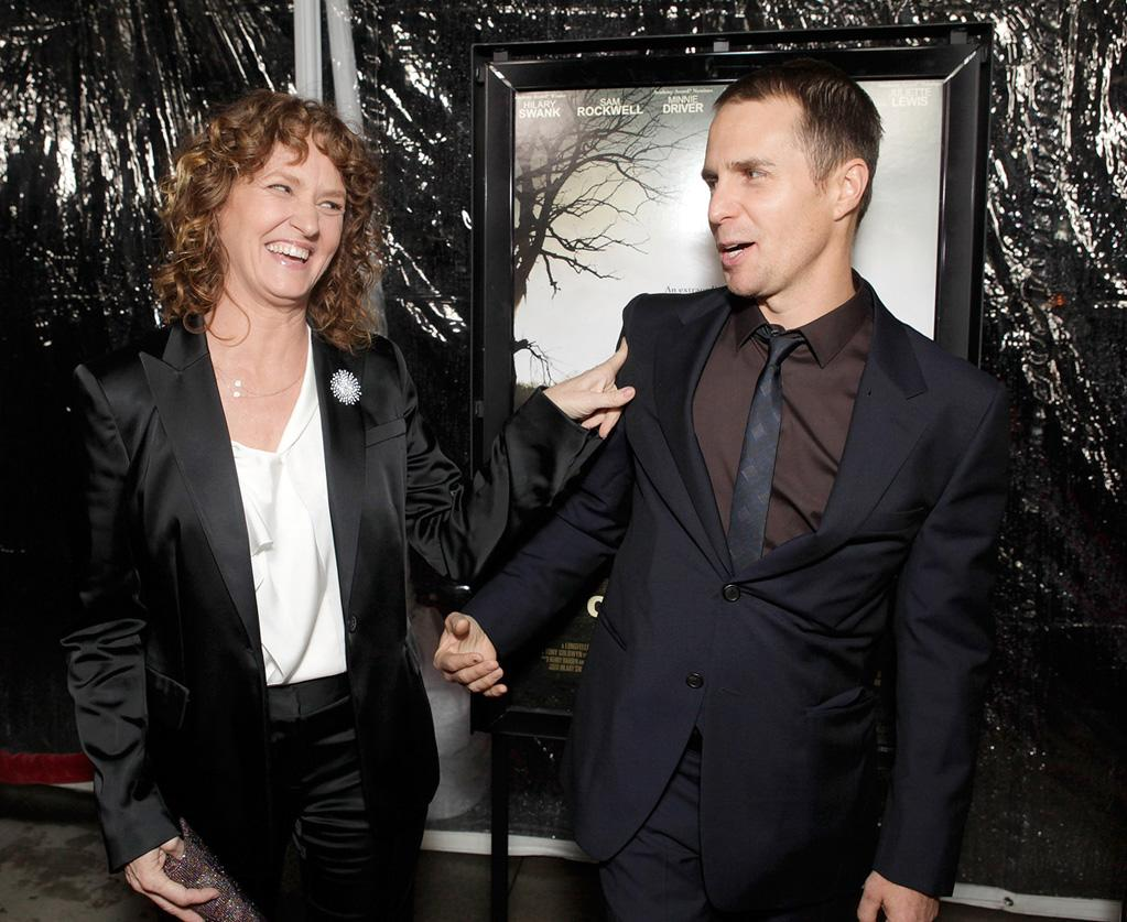"""<a href=""""http://movies.yahoo.com/movie/contributor/1800357233"""">Melissa Leo</a> and <a href=""""http://movies.yahoo.com/movie/contributor/1800021961"""">Sam Rockwell</a> at the Los Angeles premiere of <a href=""""http://movies.yahoo.com/movie/1810071450/info"""">Conviction</a> on October 5, 2010."""