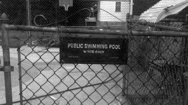'White Only' Pool Sign Discriminatory, Not Decorative Commission Rules