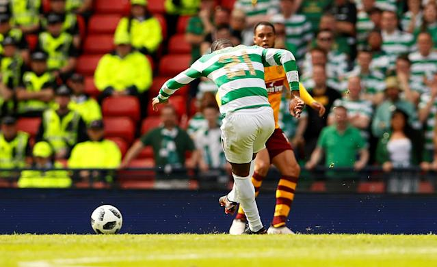 Soccer Football - Scottish Cup Final - Celtic vs Motherwell - Hampden Park, Glasgow, Britain - May 19, 2018 Celtic's Olivier Ntcham scores their second goal Action Images via Reuters/Jason Cairnduff