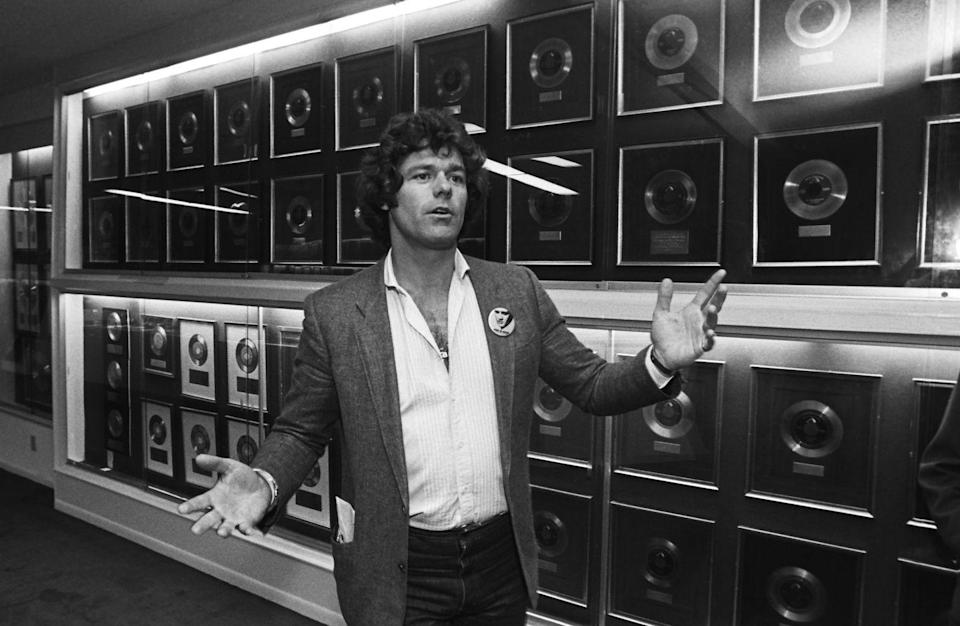 <p>While touring the house for the documentary, Elvis's friend Jerry Schilling gave viewers a look at the singer's extensive gold record collection.</p>