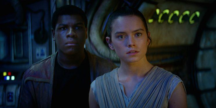 John Boyega and Daisy Ridley in Star Wars: The Force Awakens. Image via Lucasfilm
