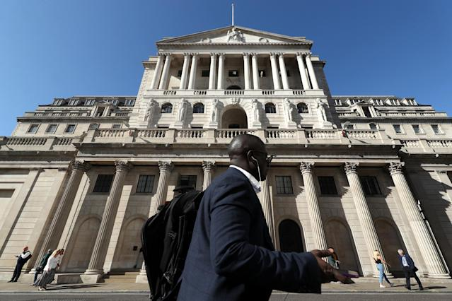 The Bank of England in the City of London, which is now under pressure to cut interest rates. Photo: Yui Mok/PA via Getty Images