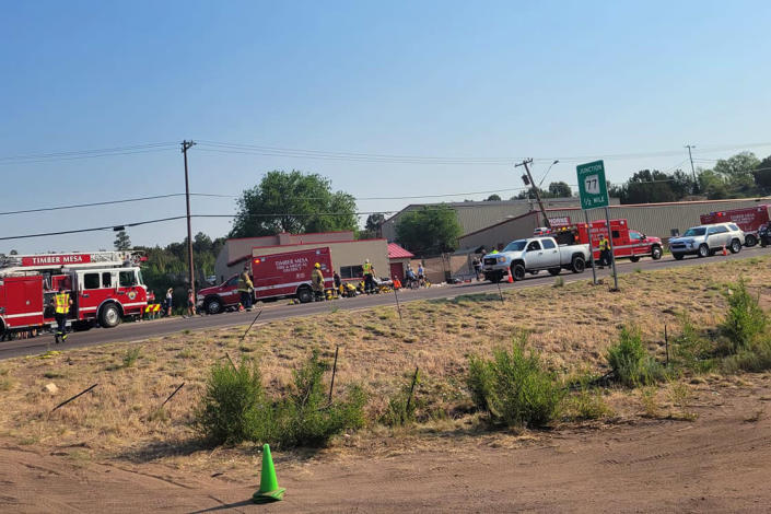 Multiple cyclists have reportedly been critically injured after being run over by a truck in Show Low, Ariz., on June 19, 2021. (Timber Mesa Fire and Medical District)