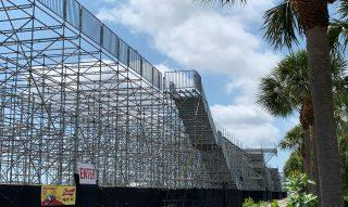 <em>St. Petersburg resident Kris Hansel took these photos last month of the Grand Prix grandstands left in place several weeks after the race was postponed.</em>